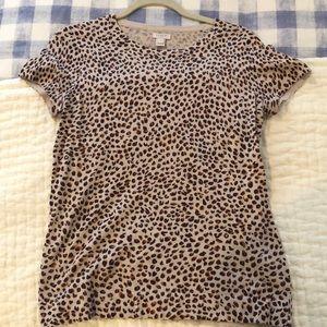 JCrew Short Sleeve Leopard Sweater